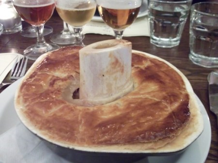 pheasant pie &amp; bone marrow