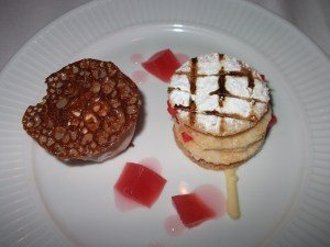 dessert - rhubarb millefeuille