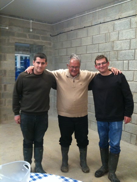 Alain(centre) with his assistant winemakers