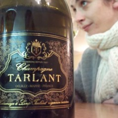 Champagne Tarlant in the snow