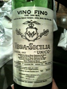 Vega Sicilia 1953