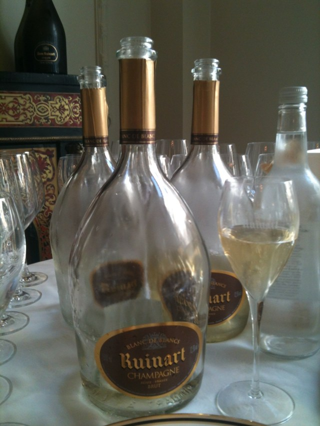 magnums of Ruinart blanc de blanc