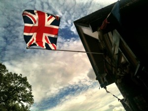 flag in the countryside