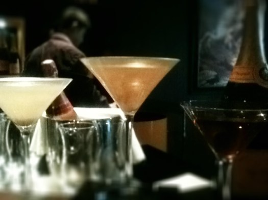 trio of cocktails