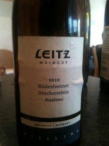 2010 Rudesheimer Drachenstein Riesling Auslese