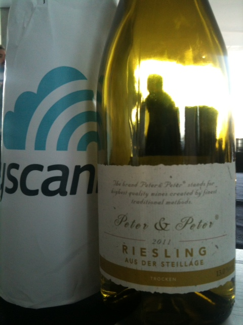 winning Riesling served on  Lufthansa