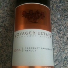 Voyager Estate 2005 cabernet/merlot, a tasting note