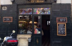 Drinking (and grabbing a bite or two) in El Born, Barcelona.