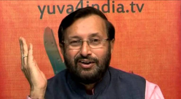 Union Minister Prakash Javadekar. Source: YouTube Screengrab