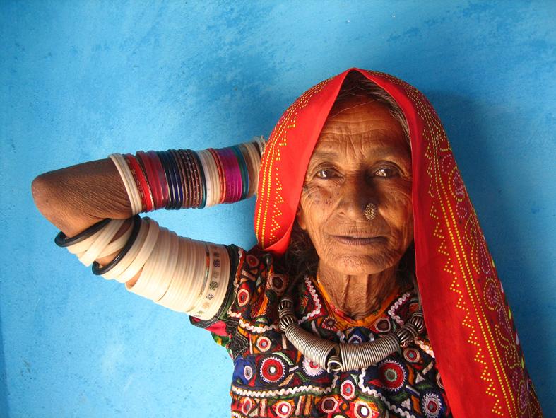 An elder in the Meghwal village of Bhirandiara. Credit: Meena Kadri, Flikr/Files