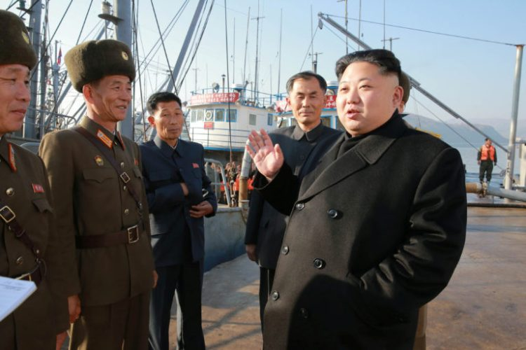 North Korean leader Kim Jong Un gives field guidance to the August 25 Fishery Station of the Korean People's Army in this undated picture provided by KCNA in Pyongyang on November 20, 2016. Credit: KCNA/via Reuters