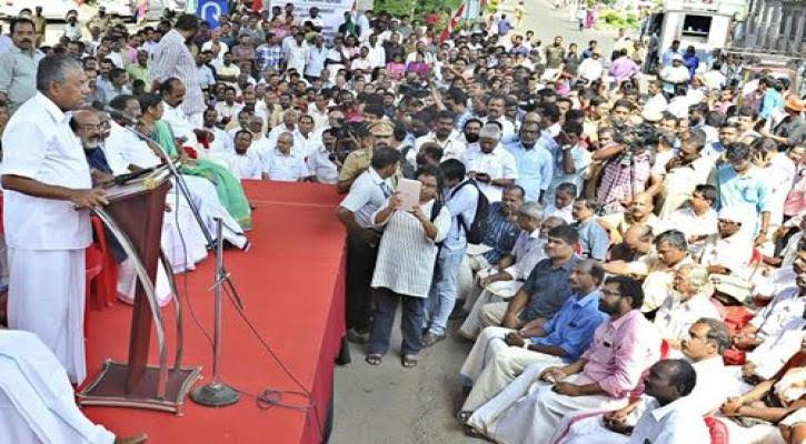 The chief minister of Kerala organised a sit-in to agitate. Credit: Kerala state government
