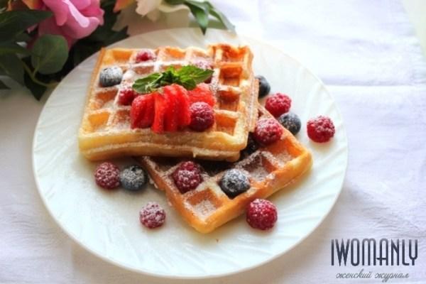 Домашние вафли станут отличным завтраком для детей