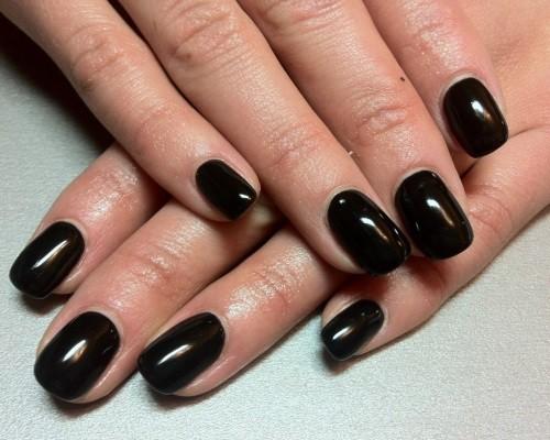 Темный маникюр фото на короткие ногти фото
