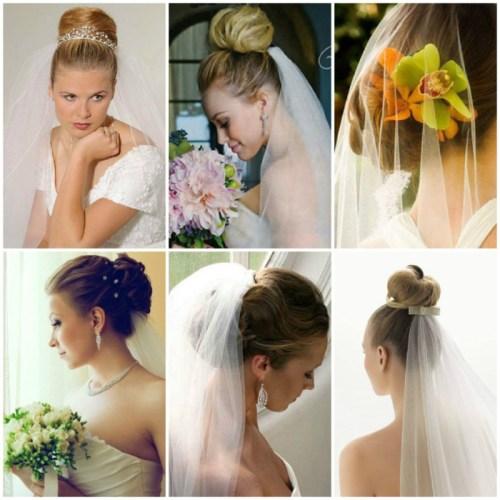 свадебные-прически-на-средние-волосы-с-фатой