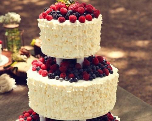 Рецепт двухъярусного торта с ягодами