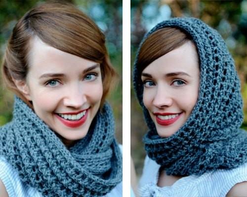Шарф снуд как сделать из обычного шарфа