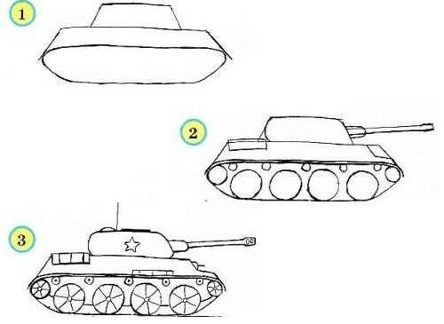 как-нарисовать-танк-карандашом-поэтапно