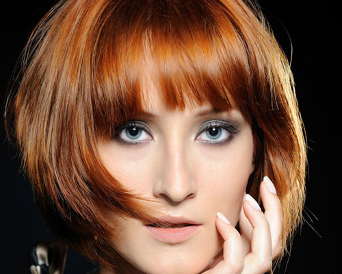 Short-Bob-Hairstyles-with-bangs-with-Layers