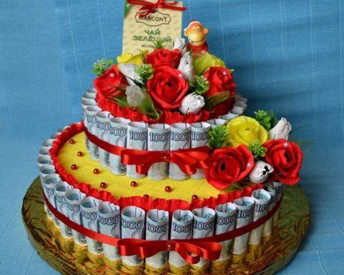Как сделать торт из денег пошагово на день рождения