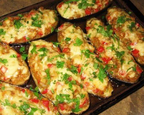 фаршированный кабачок в духовке с фаршем и помидорами в духовке
