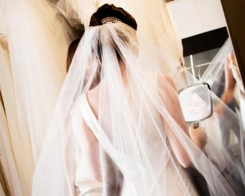 сон подвенечное белое платье с фатой примерять