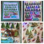 Quilt luces de patchwork para decorar en Navidad