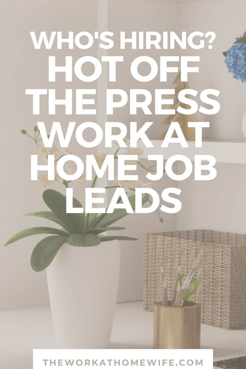 Your first stop for fresh work from home job leads. This list is updated frequently with our choice picks of legitimate work at home jobs.