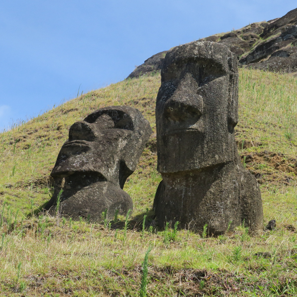 Moai, Easter Island, Isla de Pascua, Chile, South America