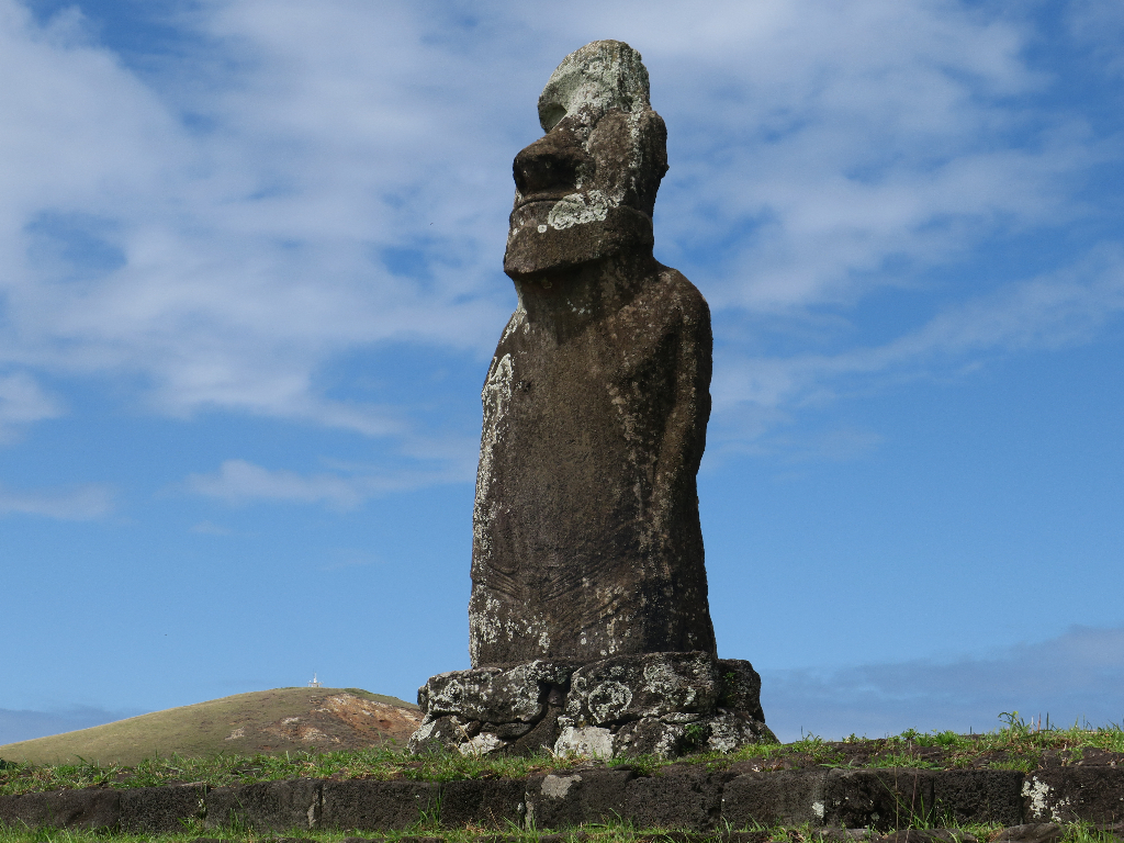 Ahu Huri a Urenga - Known as the Astronomer - Easter Island, Rapa Nui, Hanga Roa, Isla de Pascua, Chile, South America