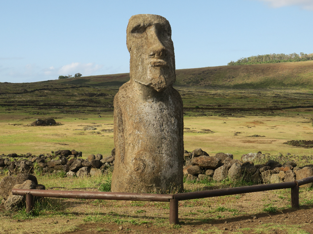 Moai Statue near Tongariki Easter Island, Rapa Nui, Hanga Roa, Isla de Pascua, Chile, South America