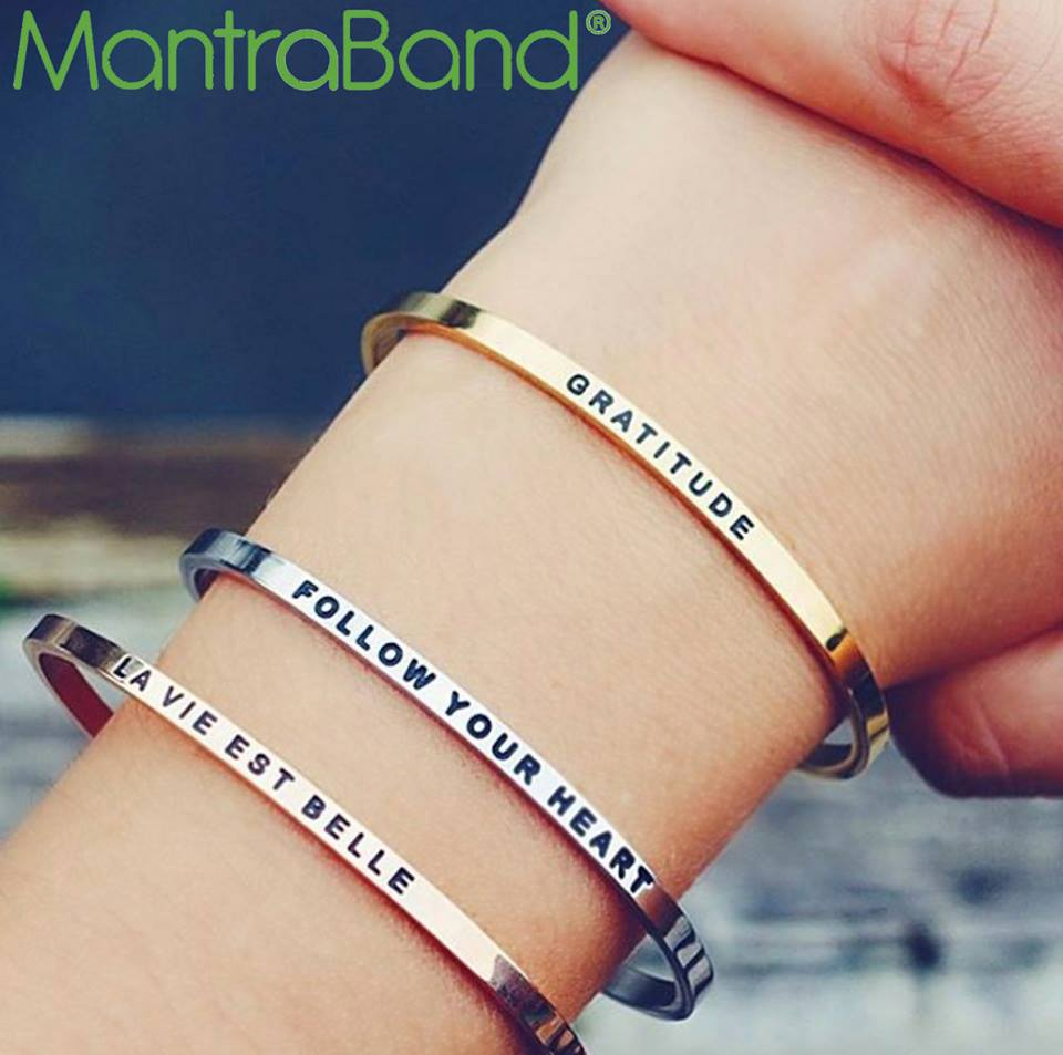 Mantrabands promote a lifestyle of optimism, positivity, mindfulness. Wear your Mantraband every day as your daily reminder, affirmation, and inspiration.