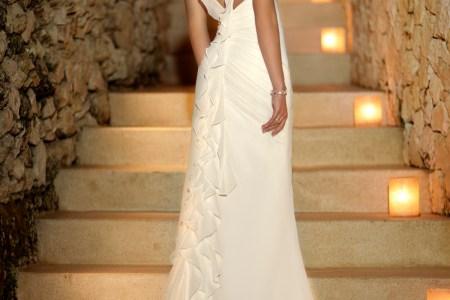 beach wedding dresses sweetheart open back chiffon sheath