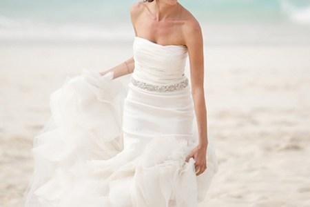 destination beach wedding dress