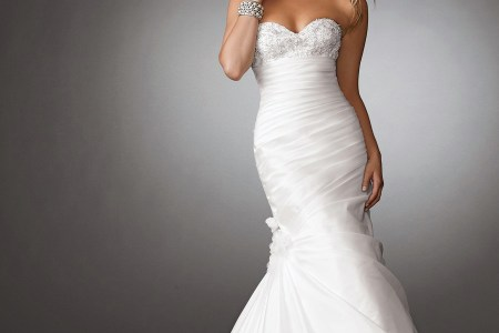 taffeta wedding dress mermaid