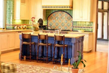 traditional yellow kitchen design