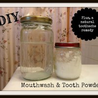 Homemade Tooth Powder and Mouthwash