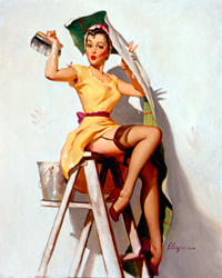 Painting by Gil Elvgren