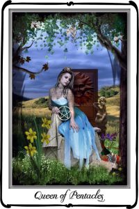 Queen of Pentacles - at home in her world.