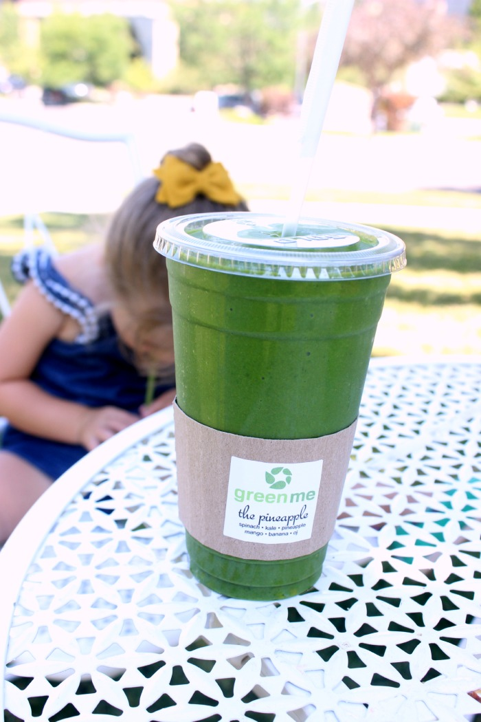 green smoothie with Janae