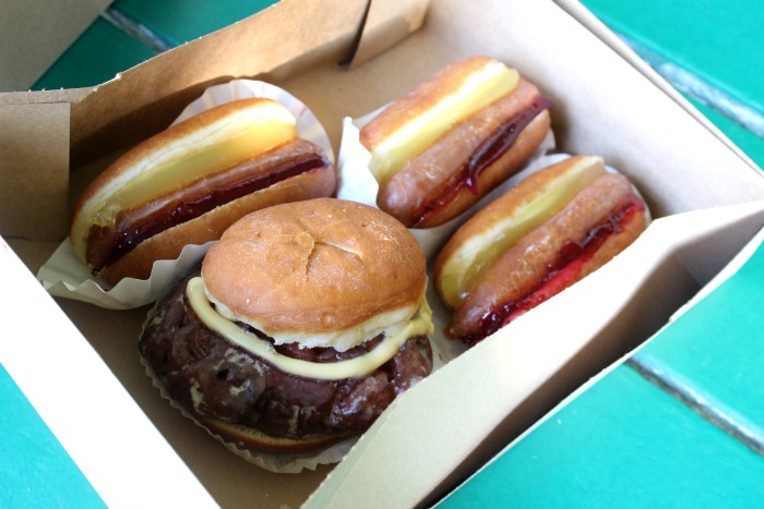 hamburger and hot dog DONUTS