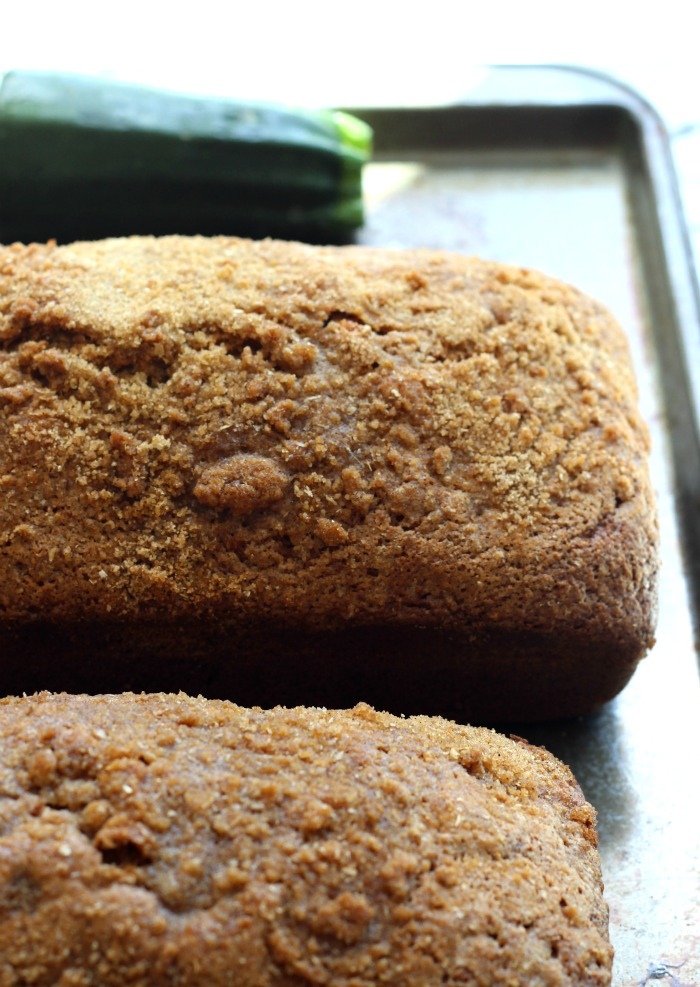 two loaf zucchini bread