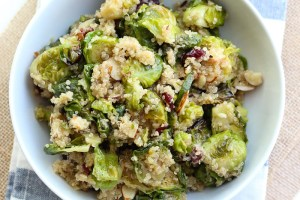 Maple Roasted Brussel Sprout Quinoa Salad