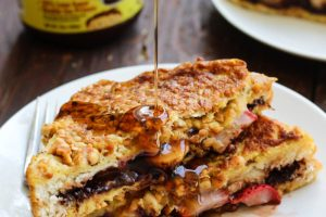 Strawberry Banana Chocolate French Toast