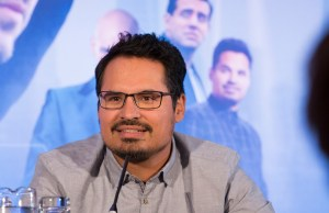 "London UK – JULY  7:  Actor Michael Pena at the press conference for Marvel's ""Ant-Man"" in London on July 7, 2015 (Credit: James Gillham / StingMedia.co.uk)"