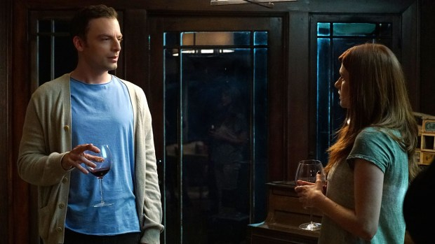 """YOU'RE THE WORST -- """"LCD Soundsystem"""" -- Episode 209 (Airs Wednesday, November 4, 10:30 pm e/p) Pictured: (l-r) Justin Kirk as Rob, Aya Cash as Gretchen. CR: Byron Cohen/FX"""