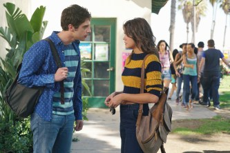 """THE FOSTERS - """"Mixed Messages"""" - Callie and Brandon worry their secret has gotten out in an all-new episode of """"The Fosters"""" airing MONDAY, FEBRUARY 1 (8:00 – 9:00 p.m. EST) on Freeform, the new name for ABC Family. (Freeform/Eric McCandless) DAVID LAMBERT, MAIA MITCHELL"""