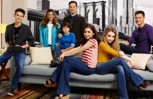 "GIRL MEETS WORLD - Disney Channel's ""Girl Meets World"" stars Corey Fogelmanis as Farkle Minkus, Danielle Fishel as Topanga Matthews, August Maturo as Auggie Matthews, Ben Savage as Cory Matthews, Rowan Blanchard as Riley Matthews, Sabrina Carpenter as Maya Hart and Peyton Meyer as Lucas Friar. (Disney Channel/Mitch Haaseth)"