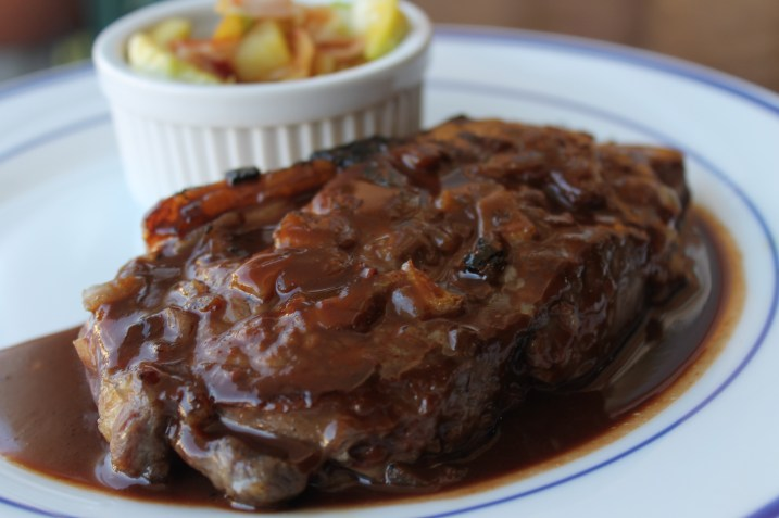 Guinness Marinated Steak with Chocolate-Guinness Sauce