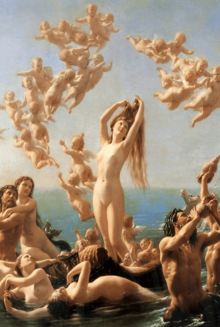 """Birth of Venus"" by Fritz Zuber-Bühler, 1887"